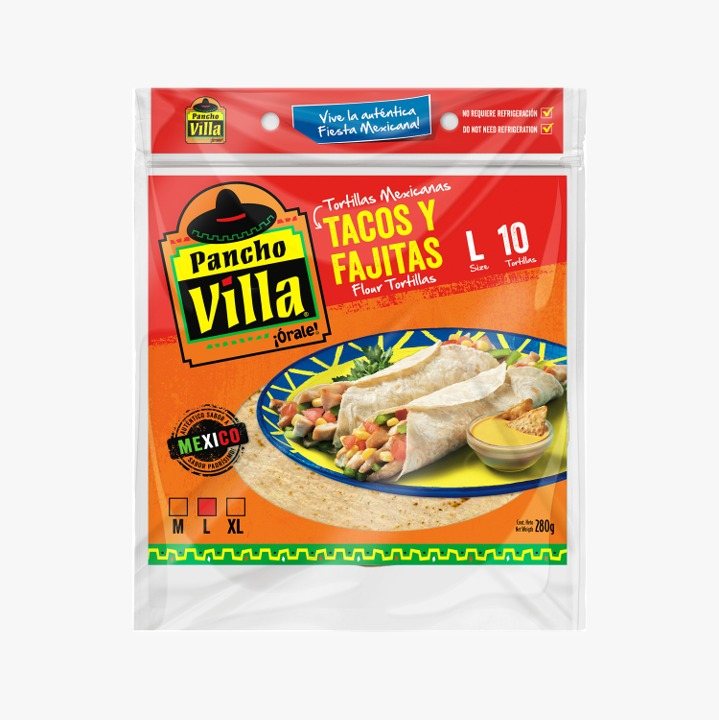Fajitas o  Tortillas Mexicanas